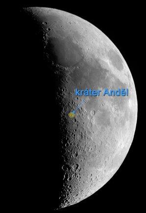 Kráter Anděl na Měsíci