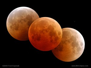 Průběh úplného zatmění Měsíce. Autor: Fred Espenak