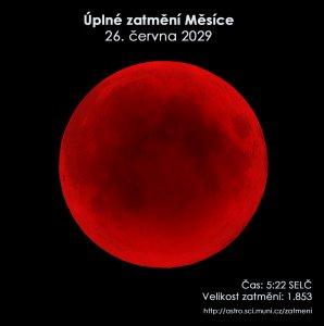 Simulační snímek úplného zatmění Měsíce 26. června 2029. Zdroj: EAI.