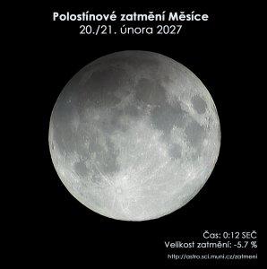 Simulační snímek polostínového zatmění Měsíce 21. února 2027. Zdroj: EAI.