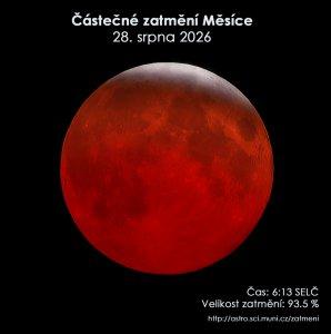 Simulační snímek částečného zatmění Měsíce 28. srpna 2026. Zdroj: EAI.
