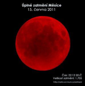 Simulační snímek úplného zatmění Měsíce 15. června 2011. Zdroj: EAI.