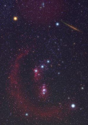 Jasná Orionida v souhvězdí Orionu v roce 2008. Autor: Jens Hackmann.