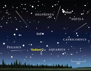 Radiant meteorického roje Eta-Aquaridy. Autor: NASA.