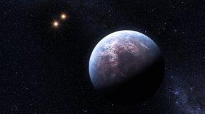 Exoplaneta u dvojhvězdného systému. Autor: NASA.