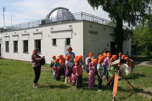 Exkurze dětí na Hvězdárně v Úpici. Autor: Archiv Hv. v Úpici.