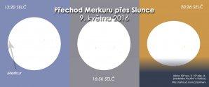 Přechod Merkuru přes Slunce v roce 2016. Autor: Expresní astronomické informace.
