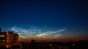 Noční svítící oblaka. Autor: Martin Pokorný