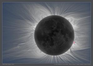 Vnitřní koróna Slunce při úplném zatmění 11. 7. 2010 Autor: Miloslav Druckmüller (Česká republika, věk 56), Martin Dietzel (Německo), Shadia Habbal (USA), Vojte