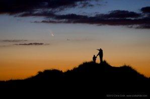 Kometa PANSTARRS hned po západu