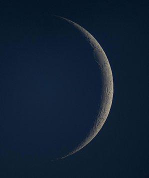 Měsíc stáří 2,8 dne. Autor: Antonín Hušek