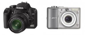 Zrcadlovka a kompakt značky Canon Autor: Canon