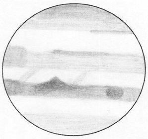 Kresba Jupiteru přes dalekohled Autor: Martin Mašek