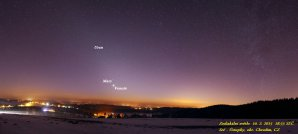 Zodiakální světlo s planetami. Autor: Vilém Heblík