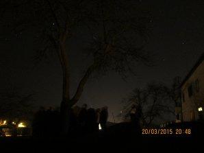 Pozorování 20. 3. 2015 Kadaň. Autor: Jaroslav Landa