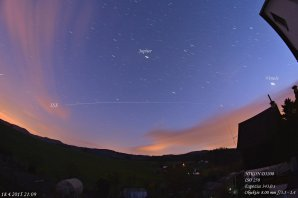 Let stanice ISS a planety Venuše a Jupiter Autor: Jiří Šíp