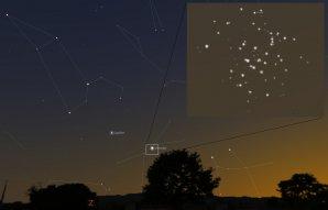 Venuše 13. června 2015 prochází hvězdokupou Jesličky. Autor: Stellarium, Karel Halíř.