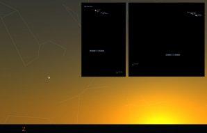 Těsná konjunkce Venuše s Jupiterem na večerní obloze 30. června 2015 Autor: Stellarium, Karel Halíř.