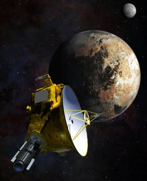 Sonda New Horizons u Pluta v uměleckých představách. Autor: NASA