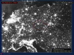 Družice NPP Suomi přináší detailní pohled na noční Zemi a světla našich měst. Autor: Martin Setvák, Suomi NPP
