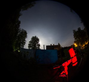 Vysoká oblačnost roztahaná po obloze, pozorovaní ale pokračuje Autor: Martin Mašek