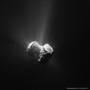 Fotografie komety 67P z 20. července, pořízená navigační kamerou Rosetty ze vzdálenosti 171 km Autor: ESA