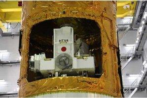 Pohled na platformu s vnějším nákladem zasunutou do útrob HTV Autor: JAXA