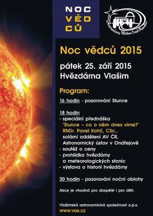 Program Noci vědců 2015 na Hvězdárně ve Vlašimi. Autor: Vlašimská astronomická společnost.