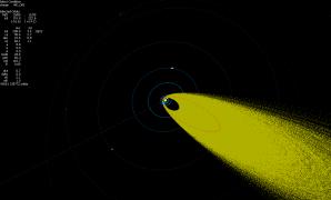 Projekce vícestaničních drah Orionid ve Sluneční soustavě Autor: Jakub Koukal