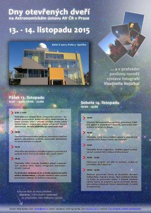 Program Dní otevřených dveří v Astronomickém pavilonu v Praze v listopadu 2015. Autor: AsÚ AV ČR
