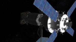 Loď Orion se spojila s plavidlem, nesoucím kus asteroidu (alespoň tedy v představě animátora) Autor: NASA