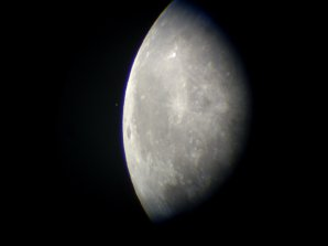 Zákryt hviezdy Aldebaran Mesiacom skrze dalekohled. Autor: Marek Ješo
