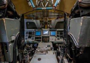 Pilotní kabina sovětského raketoplánu. Autor: Ralph Mirebs