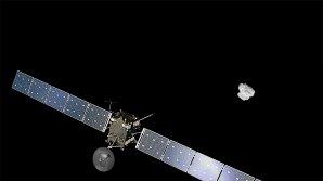 Sonda Rosetta a kometa 67P Autor: ESA