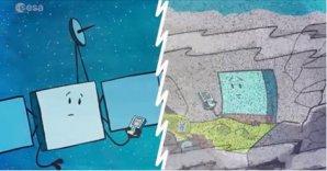 Smutnou situaci Philae připomíná i PR kreslený seriál o misi Autor: ESA/Rosetta-facebook