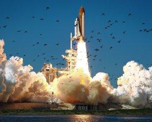 Okamžik startu raketoplánu Challenger STS-51L. Autor: NASA.