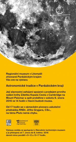 Pozvánka na astronomické odopledne v Regionálním muzeu v Litomyšli. Autor: Regionální muzeum v Litomyšli.