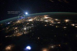 Rudý skřítek zachycený z paluby Mezinárodní kosmické stanice ISS 10. srpna 2015. Autor: ISS/NASA.