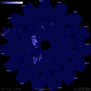 NLC nad jižní polokoulí z družice AIM. Autor: NASA