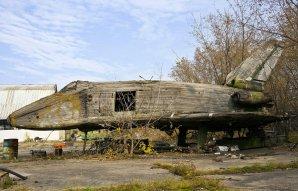 Dřevěný model sovětského raketoplánu Autor: Alexander Markin