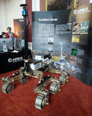 Model evropského roveru pro druhou fázi programu ExoMars, vystavený v roce 2015 v Cambridge Autor: wikipedia