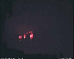 Red sprites a Sprites halo. Autor: Martin Popek