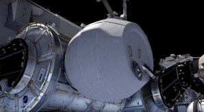 Takto nějak bude vypadat modul BEAM po nafouknutí na ISS Autor: youtube.com/NASAJohnson
