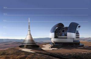 Srovnání dalekohledu E-ELT s věží na Ještědu Autor: ESO