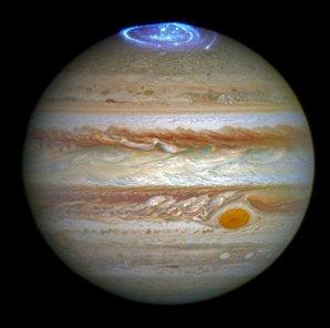 Polární záře na Jupiteru okem Hubbleova teleskopu Autor: spaceflightnow.com