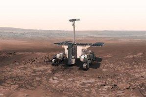 Vizualizace vozítka EXO Mars. Autor: ESA.