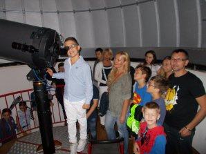 Pozorování 350mm teleskopem na Hvězdárně v Makarske. Autor: Gloryan Grabner.