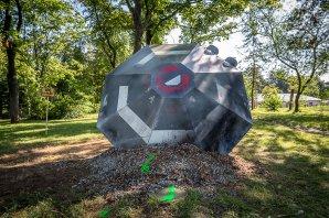 Ztroskotané UFO u brněnské hvězdárny. Autor: HaP Brno