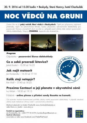 Noc vědců v Beskydské oblasti tmavé oblohy - na Gruni. Autor: BOTO