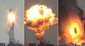 Kompilace snímků výbuchu rakety Falcon 9 Autor: Spaceflight101.com